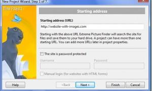Giao diện một phần mềm chuyên download ảnh từ website