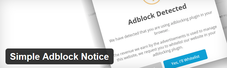 Plugin Simple Adblock Notice