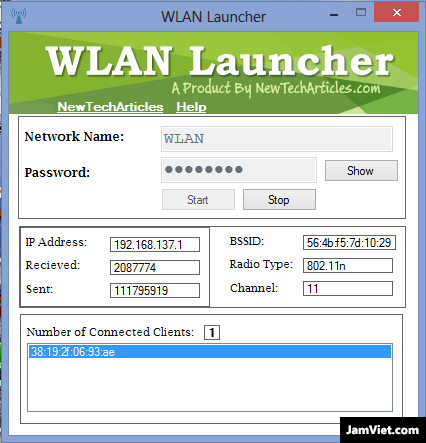 Giao diện WLAN Launcher