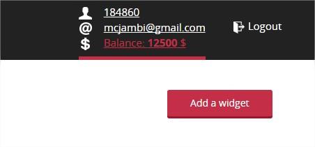 Trước tiên các bạn click vào nút Add a Widget