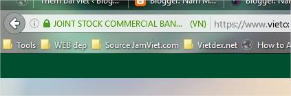 Biểu thị website có giao thức bảo mật