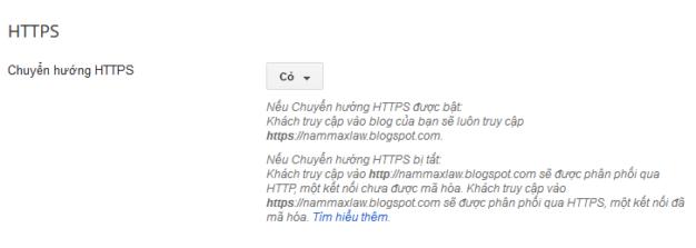 Cách bật HTTPS trên blogger