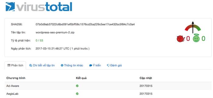 VirusTotal cho phép bạn scan virus trực tuyến