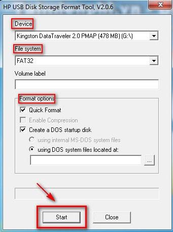 HP USB Disk Storage Format Tool - phần mềm format USB theo định dạng dễ sử dụng