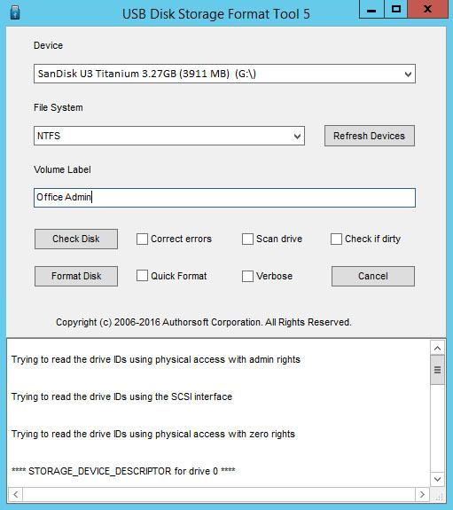 USB Disk Storage Format Tool - công cụ format USB kể cả nó lỗi