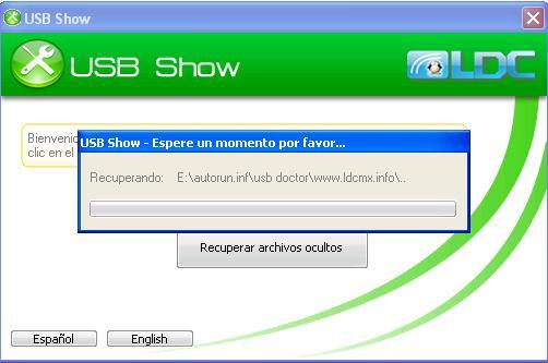 Giao diện làm việc của USB Show