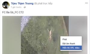 Đầu tiên, các bạn bấm chuột phải vào video và chọn Hiển thị URL Video