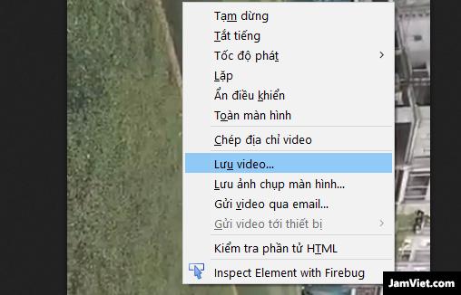 Các bạn sẽ nhìn thấy hình video, click vào và click chuột phải, chọn Lưu Video