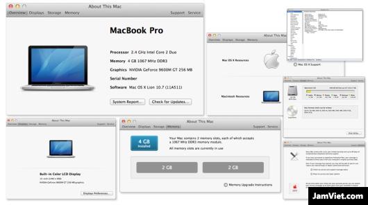 Cách xem cấu hình máy Mac