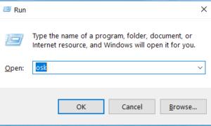 Mở bàn phím ảo bằng lệnh OSK trong cửa sổ RUN