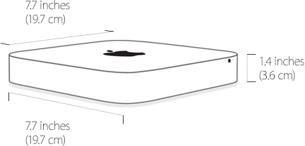 Mac Mini rất nhỏ gọn