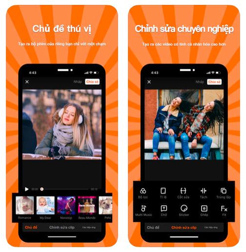 VivaVideo- phần mềm làm video trên Iphone cực tốt