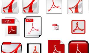 Ảnh mô tả các icon của định dạng PDF