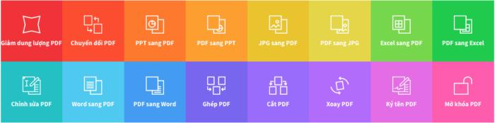 Các chức năng chính của SmallPDF