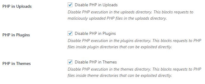Không cho phép PHP thực thi trực tiếp trong các thư mục nhạy cảm