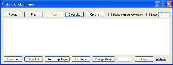 Phần mềm Auto Click Typer