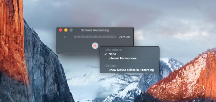 Quay video màn hình mặc định không bật Micro