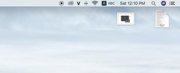 Nút dừng quay màn hình ở góc bên phải