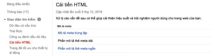 Cảnh báo trùng lặp nội dung trên Google Search Console