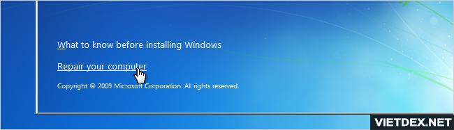 Ảnh: Cách vào Windows 7 khi quên mật khẩu bằng lệnh