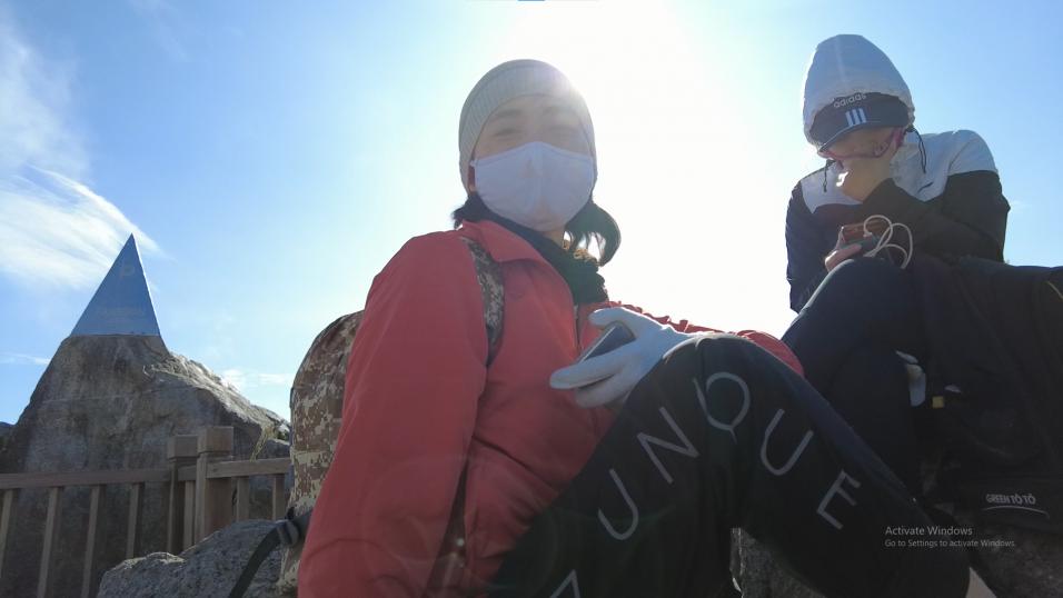 Một partner của mình tại đỉnh Fansipan