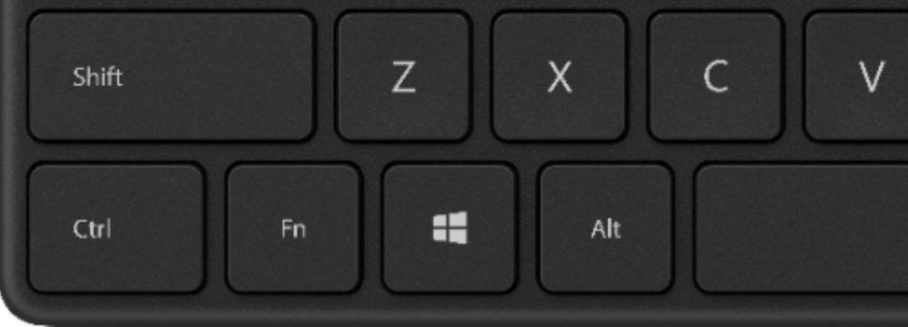 Bàn phím Windows với 3 nút chức năng