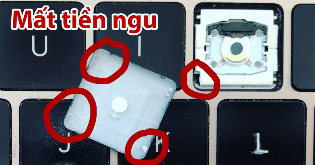 Cách khắc phục kẹt bàn phím cánh bướm trên Macbook